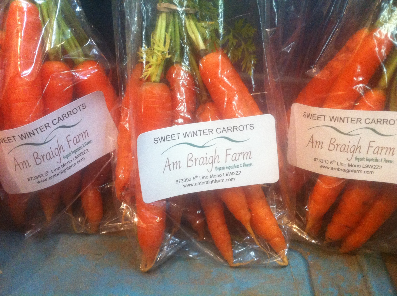 packaged carrots